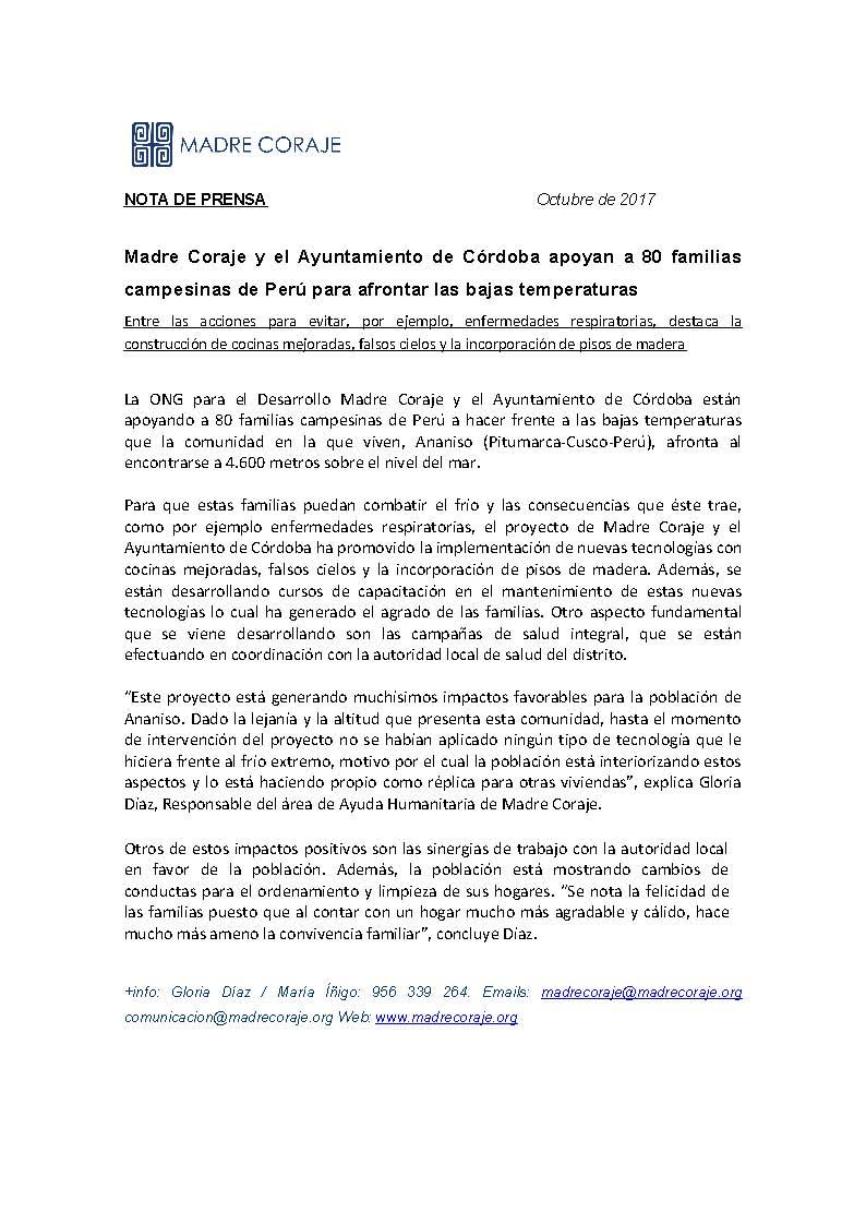 Nota Prensa oct 2017