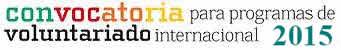 Bases de convocatoria programas de voluntariado internacional